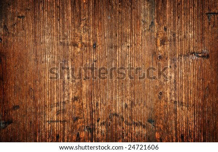 Old and weathered wooden wall texture background - stock photo