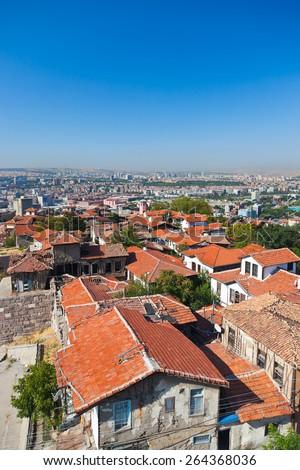 Old Ankara Turkey - architecture travel background - stock photo