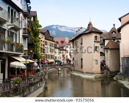 Old Annecy, France, city general view - stock photo