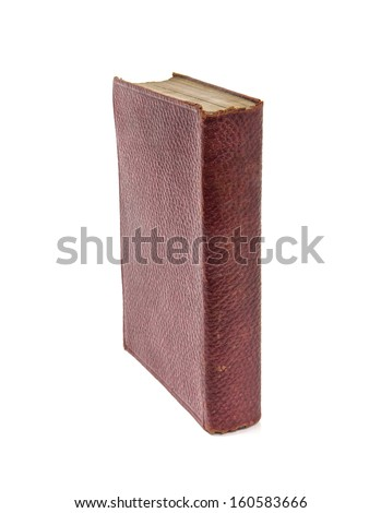 Old Antique books on a white background