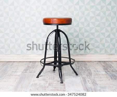old antique chair in room - stock photo