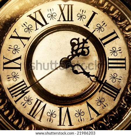 Old antique clock - stock photo