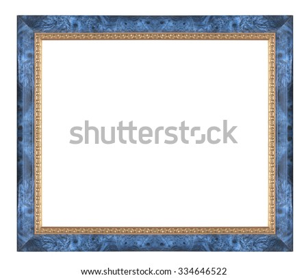Old Antique  frame Isolated Decorative Carved Wood Stand Antique Black Frame Isolated On White Background