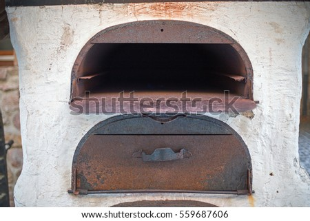 Old antique nostalgic oven