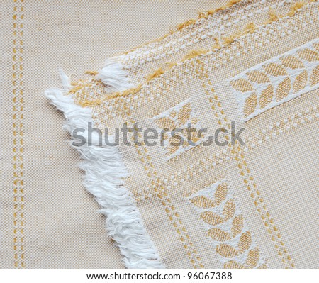 old, antique tablecloth
