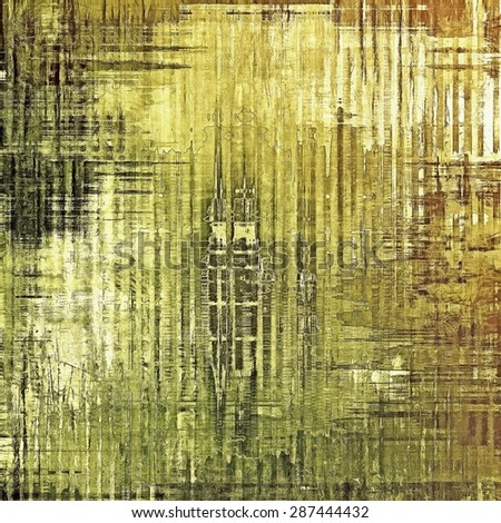 Old antique texture (for background). With different color patterns: yellow (beige); brown; black; green - stock photo