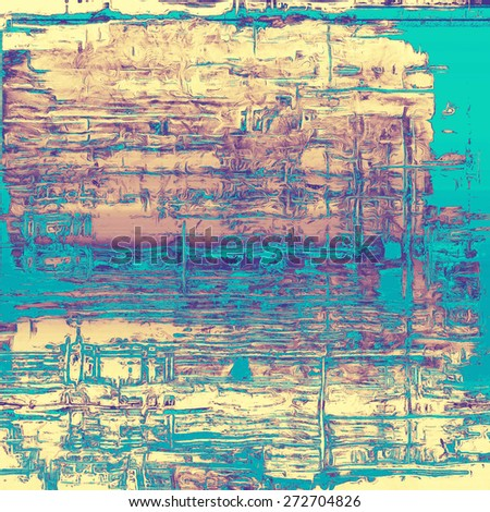 Old antique texture (for background). With different color patterns: yellow (beige); cyan; purple (violet); blue - stock photo