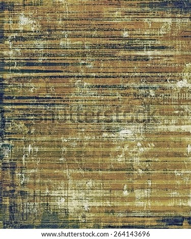 Old antique texture or background. With different color patterns: yellow (beige); brown; black - stock photo