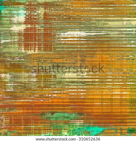 Old antique texture or background. With different color patterns: yellow (beige); brown; green; cyan - stock photo