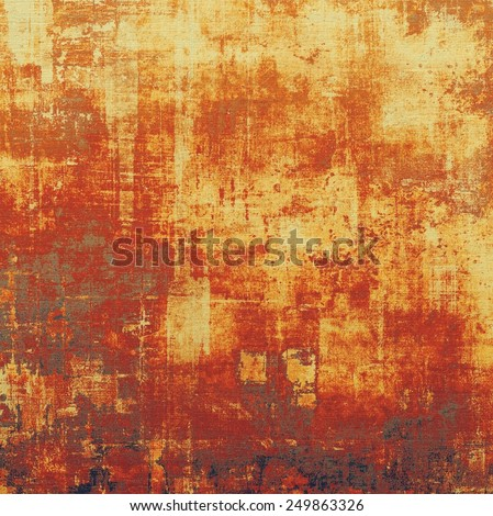 Old antique texture - perfect background with space for your text or image. With different color patterns: yellow (beige); brown; red (orange) - stock photo