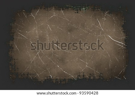 Old antique texture with grunge frame and space for text or image