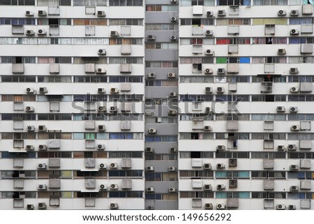 old apartment building - stock photo
