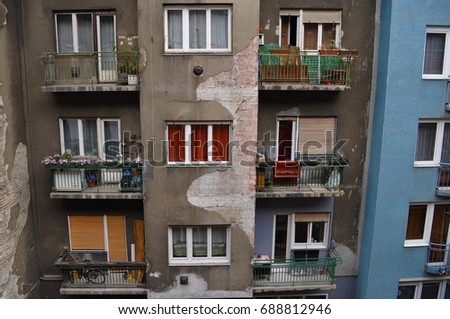 Old apartment house in Hungary