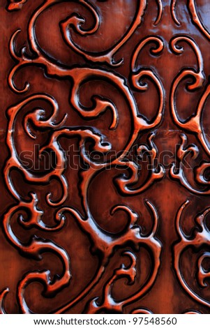 Old arabic styled iron door - stock photo