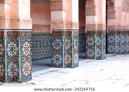 Old architecture in Morocco - stock photo