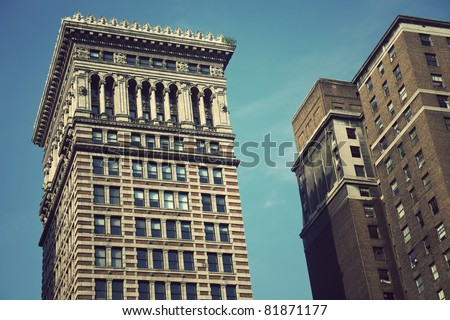 Old architecture of downtown Pittsburgh, Pennsylvania - stock photo