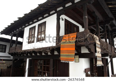 Old authentic house in the Etar Architectural-Ethnographic Complex.Bulgaria - stock photo