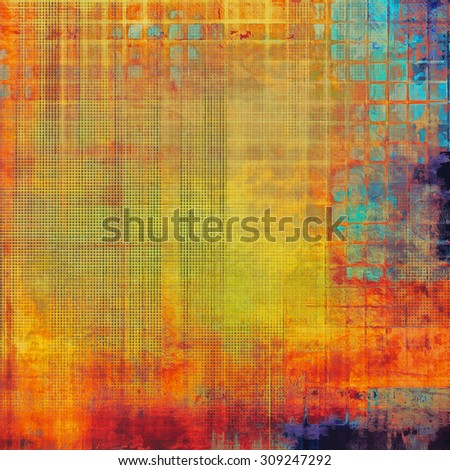 Old background or texture. With different color patterns: yellow (beige); red (orange); blue; purple (violet) - stock photo