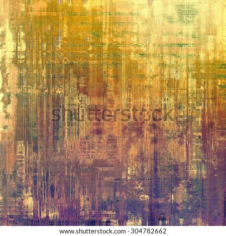 Old background with delicate abstract texture. With different color patterns: yellow (beige); brown; green; purple (violet) - stock photo