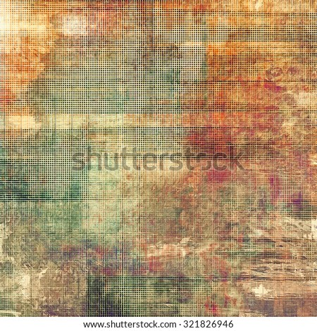Old background with delicate abstract texture. With different color patterns: yellow (beige); brown; green; red (orange) - stock photo