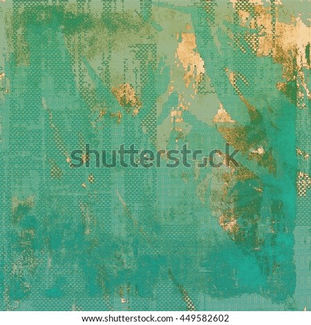 Old background with grunge decorative elements. Retro composition for your design. With different color patterns: yellow (beige); brown; green; blue; cyan; gray - stock photo