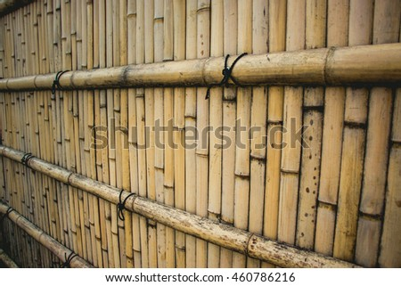 old bamboo fence background texture