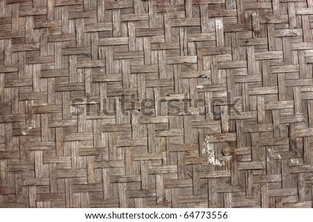 Old bamboo pattern - stock photo