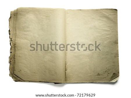 Old bank book on white background