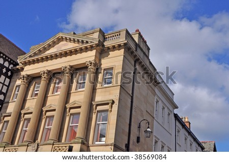 Old Bank Building in Chester, Cheshire, England - stock photo