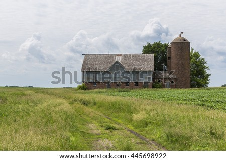 Old Barn Country Scene - stock photo
