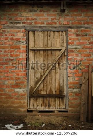 Old Barn Door - stock photo