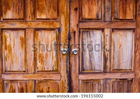 Old barn door . - stock photo