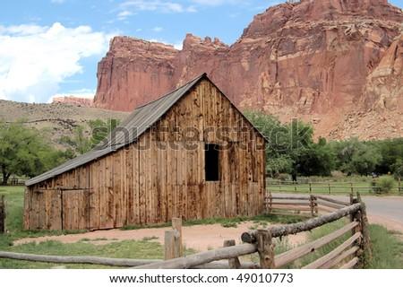Old Barn in Canyon, Utah - stock photo