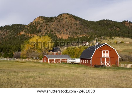 Old barn in Colorado - stock photo