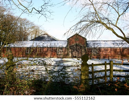 Old Barn near to the Haigh Country Park, Wigan, Lancashire, England