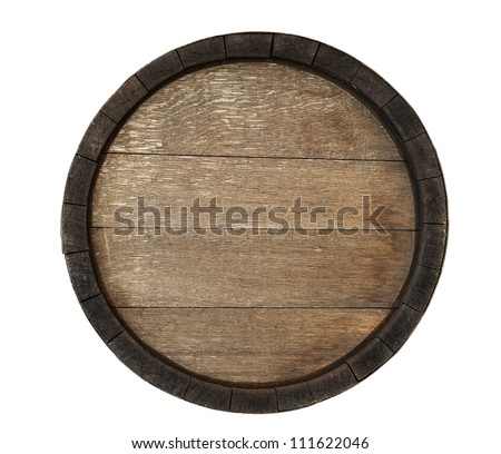 Old barrel isolated on white. - stock photo
