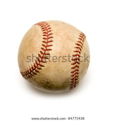 Old baseball - stock photo