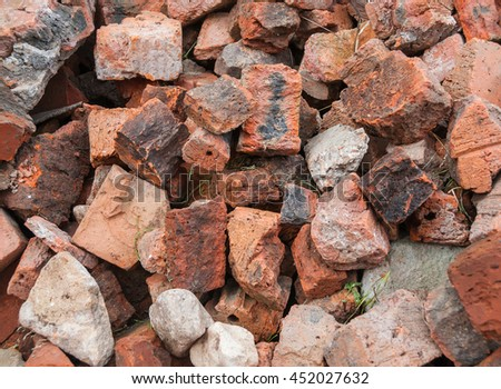 Old beaten bricks.Background. - stock photo