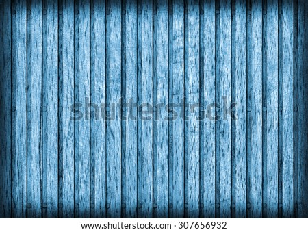 Old Beech Wood Place Mat, Bleached and Stained Blue, Vignette Grunge Texture Sample.