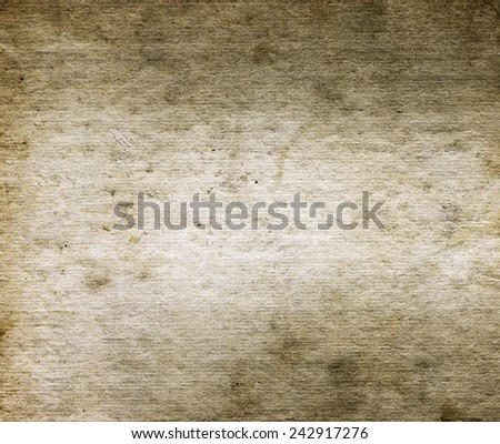 Old beige paper texture or background. Closeup. - stock photo