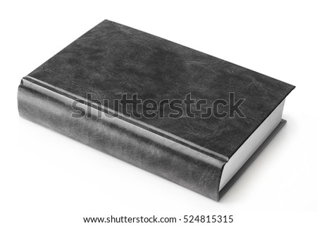 Old Bible Holy Book Isolated On A White Background Black And Photography