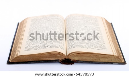old bible of the divine book songbook - stock photo
