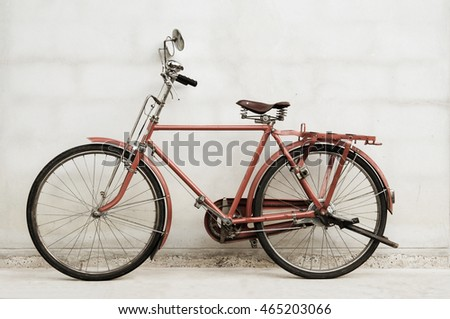 old bicycle and wall