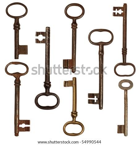 old big keys - stock photo