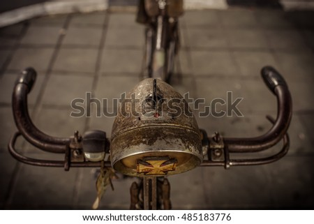 Old bike against