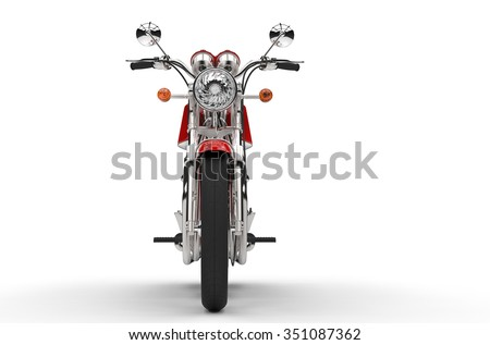 Old Bike Front - stock photo