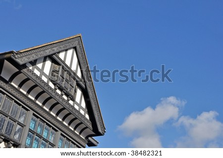 Old Black and White Buildings in Chester, Cheshire, England - stock photo
