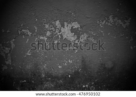 Old black background. Grunge wall texture
