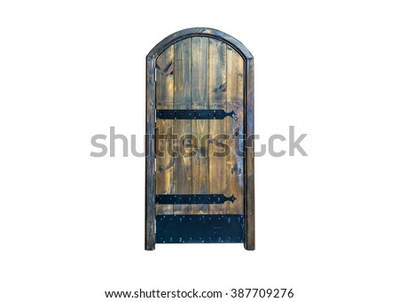 Old black door. - stock photo