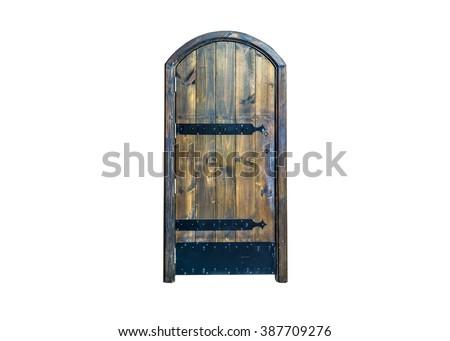 Old black door. - stock photo